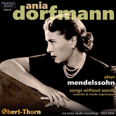DORFMANN Mendelssohn: Songs Without Words (1956/1953) - PAKM069