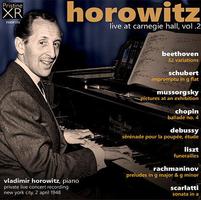 HOROWITZ Live at Carnegie Hall, Volume 2 (1948) - PAKM072