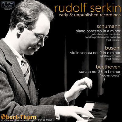 SERKIN Early and Unpublished Recordings (1936-40) - PAKM077