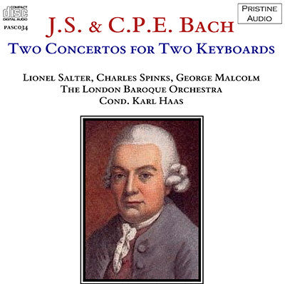 SALTER, SPINKS, MALCOLM J.S. Bach & C.P.E. Bach: Concertos for Two Keyboards (1952/53) - PASC034