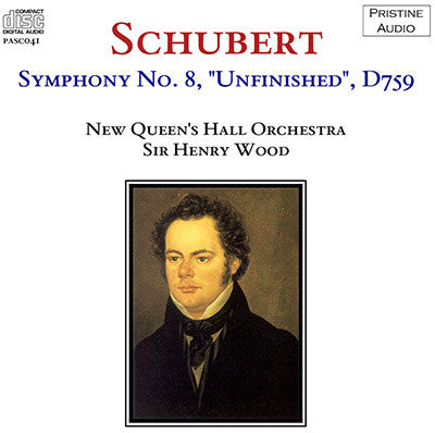 "WOOD Schubert: Symphony No. 8, ""Unfinished"" (1923) - PASC041"