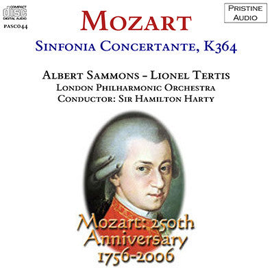 SAMMONS, TERTIS, HARTY Mozart: Sinfonia Concertante (1933) - PASC044