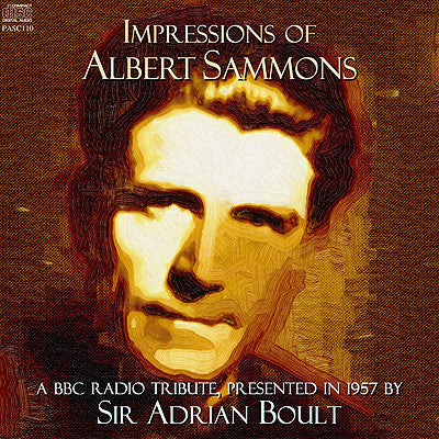 BOULT Impressions of Albert Sammons (1957) - PASC110