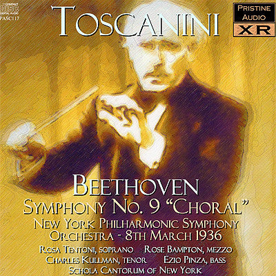 "TOSCANINI Beethoven: Symphony No. 9 ""Choral"" (1936) - PASC117"