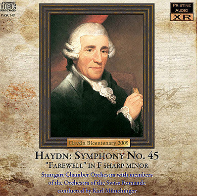 MÜNCHINGER Haydn: Symphony No 45, 'Farewell' (1951) - PASC148