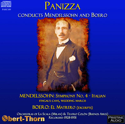 PANIZZA conducts Mendelssohn and Boero (1928-31) - PASC189