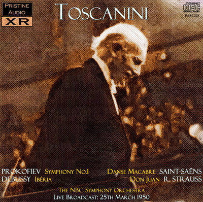 TOSCANINI conducts Prokofiev, Debussy, Saint-Saëns, R. Strauss (1950) - PASC208