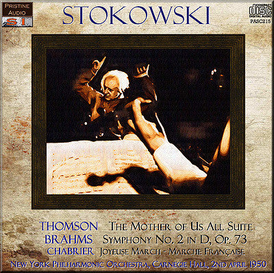 STOKOWKSI conducts Brahms, Thomson, Chabrier (1950) - PASC215