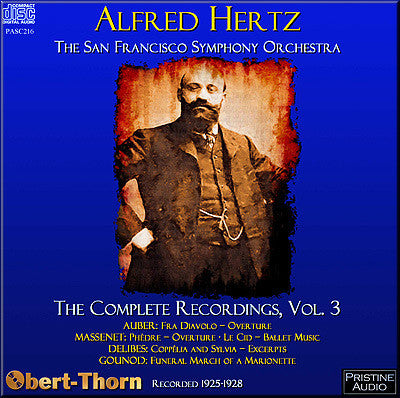 HERTZ Complete San Francisco Recordings Volume 3 (1925-28) - PASC216