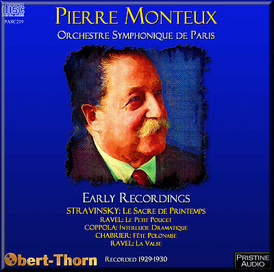 MONTEUX The Early Recordings (1929/30) - PASC219