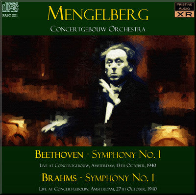 MENGELBERG Beethoven and Brahms: First Symphonies (1940) - PASC221