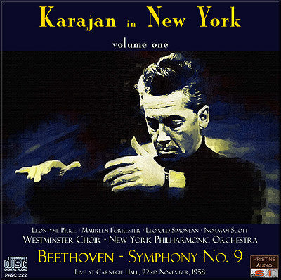 KARAJAN in New York Vol. 1: Beethoven Symphony No. 9 (1958) - PASC222
