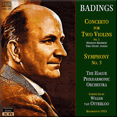 OTTERLOO Badings: Concerto for Two Violins No. 1, Symphony No. 3 (1955) - PASC230