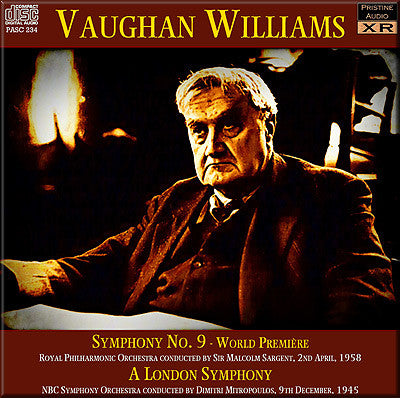 SARGENT & MITROPOULOS Vaughan Williams: Symphonies 2 and 9 (1945/58) - PASC234