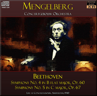 MENGELBERG Beethoven: Symphonies 4 and 5 (1940) - PASC236