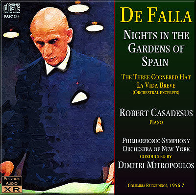MITROPOULOS Falla: Nights in the Gardens of Spain, Orchestral works (1956/57) - PASC244