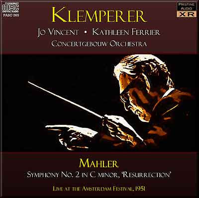 "KLEMPERER Mahler: Symphony No. 2 ""Resurrection"" (1951) - PASC265"