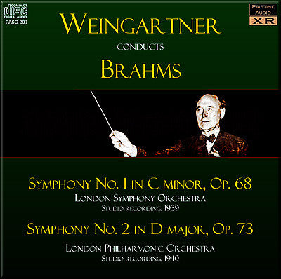 WEINGARTNER Brahms: Symphonies Nos. 1 and 2 (1939/40) - PASC281