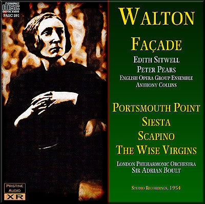 WALTON Façade, Portsmouth Point, Siesta, Scapino, The Wise Virgins (1954) - PASC291
