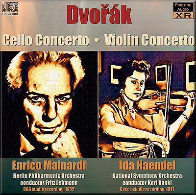 MAINDARDI, HAENDEL Dvořák: Cello and Violin Concertos (1955/47) - PASC308