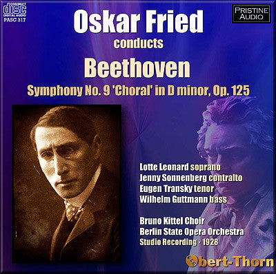 FRIED Beethoven: Symphony No. 9 (1928) - PASC317