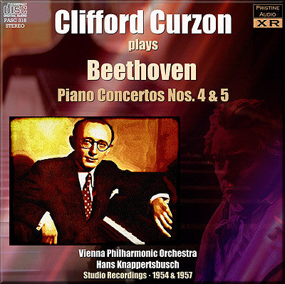 CURZON plays Beethoven Piano Concertos 4 & 5 (1954/57) - PASC318