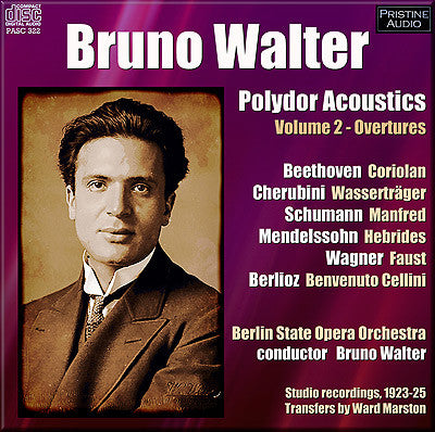 WALTER Polydor Acoustics Volume 2: Overtures (1923-25) - PASC322