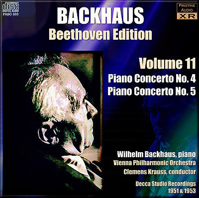 BACKHAUS Beethoven Edition: Volume 11 - Piano Concertos 4 and 5 (1951/53) - PASC333