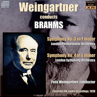 WEINGARTNER conducts Brahms' Third and Fourth Symphonies (1938) - PASC334
