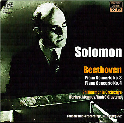 SOLOMON plays Beethoven Piano Concertos 3 & 4 (1952/56) - PASC351