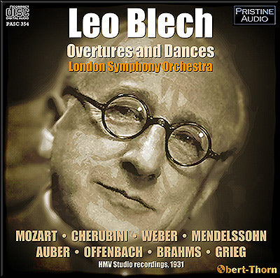 LEO BLECH Overtures and Dances (1931) - PASC354