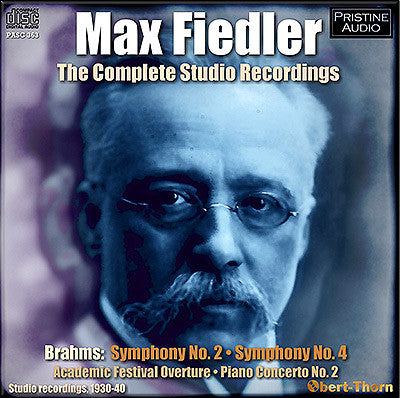 MAX FIEDLER: The Complete Studio Recordings (1930-40) - PASC363