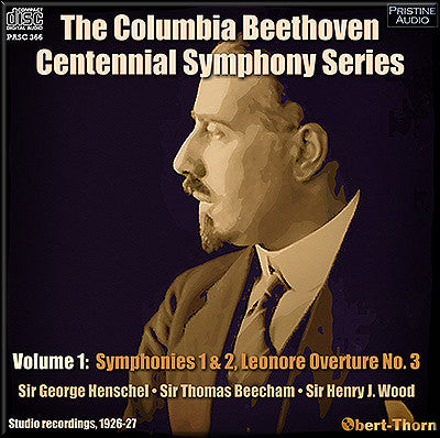 The Columbia Beethoven Centennial Symphony Series, Volume 1 (1926/27) - PASC366