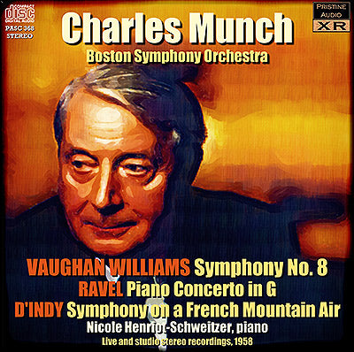 MUNCH conducts Vaughan Williams, Ravel and d'Indy (1958) - PASC368