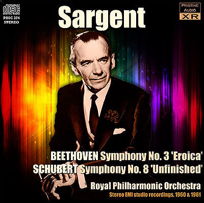 SARGENT conducts Beethoven and Schubert (1960/61) - PASC374