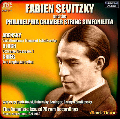 FABIEN SEVITZKY conducts the Philadelphia Chamber String Simfonietta (1927-40) - PASC375