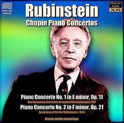 RUBINSTEIN plays the Chopin Piano Concertos (1958/61) - PASC380