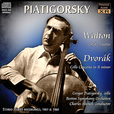 PIATIGORSKY plays Walton and Dvorák Cello Concertos (1957/60) - PASC398