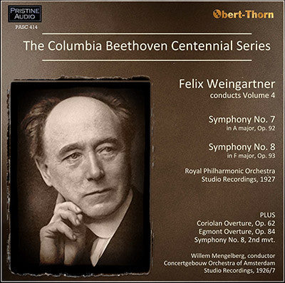 The Columbia Beethoven Centennial Symphony Series, Volume 4 (1926/27) - PASC414