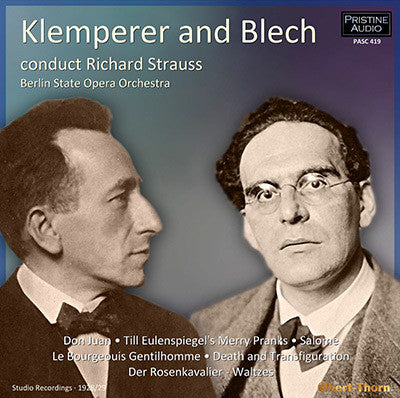 KLEMPERER & BLECH conduct Richard Strauss (1928/29) - PASC419