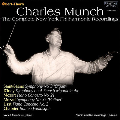 MUNCH The Complete New York Philharmonic Recordings (1947/48) - PASC448