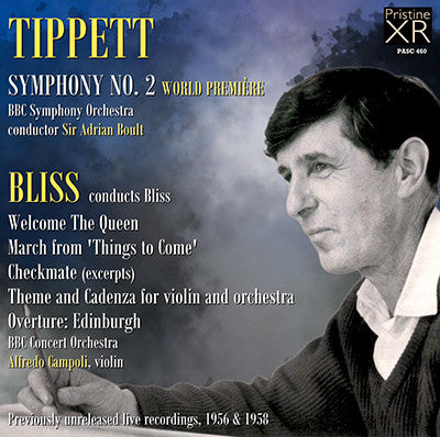 TIPPETT Symphony No. 2 - BLISS Music For Lighter Mood (1956/58) - PASC460