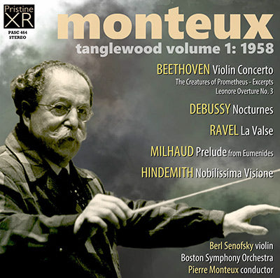 MONTEUX at Tanglewood, Volume 1 (1958) - PASC464