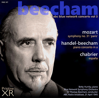 BEECHAM The ABC Blue Network Concerts, Volume 3 (1945) - PASC477