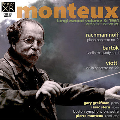MONTEUX at Tanglewood, Volume 3 (1961) - PASC478