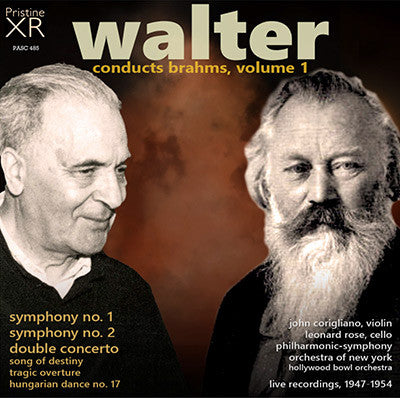 WALTER conducts Brahms, Volume 1 (1947-54) - PASC485