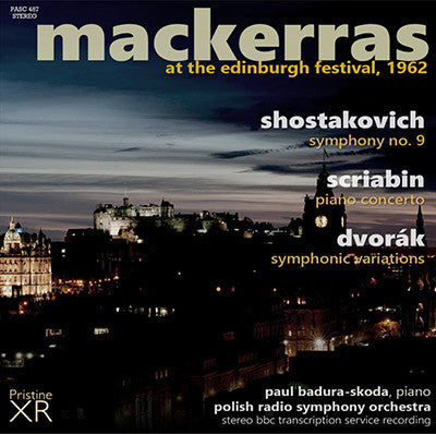 MACKERRAS at the Edinburgh Festival: Shostakovich, Scriabin, Dvorák (1962) - PASC487