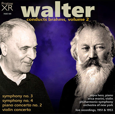 WALTER conducts Brahms, Volume 2 (1951/53) - PASC489