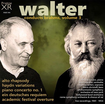 WALTER conducts Brahms, Volume 3 (1941-52) - PASC494