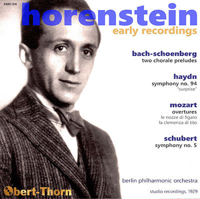 HORENSTEIN Early Recordings (1929) - PASC506